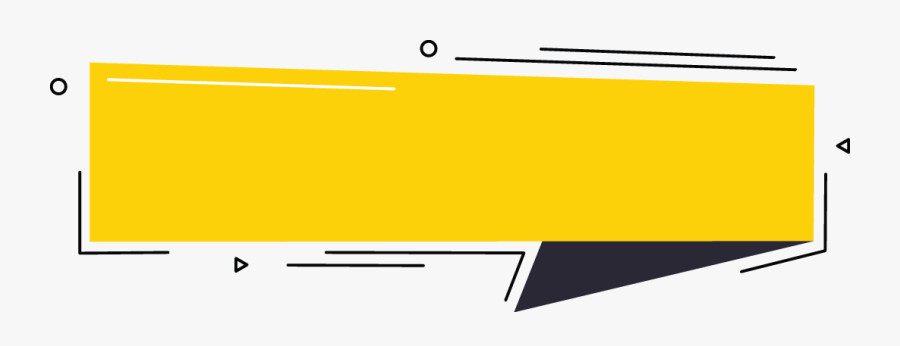 Black and yellow banner logo