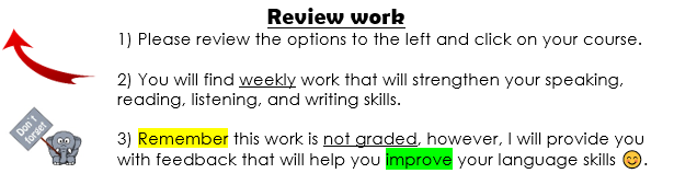 Review work information